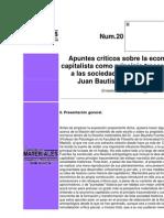Quiroga, E.; Apuntes Cr¡ticos Sobre La Econom¡a Capitalista..