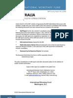 IMF - Australia Article IV Consultation Report