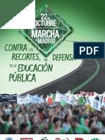 Cartel de la Marcha Verde el 22 de octubre