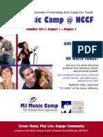 MJ Music Camp at NCCF Brochure May 3 2011