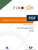 Topicos de Incentivos y Contratos (Sarriko)