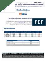ValuEngine Weekly Newsletter October 7, 2011