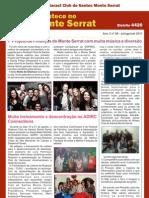 """Boletim """"Acontece no Monte Serrat"""" - 1º trimestre gestão 2011/2012"""