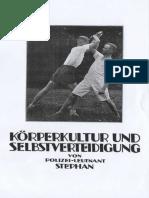 Körperkult und Selbstverteidigung - Polizei Leutnant Stephan 1923