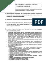 Protocolo y Normativa Del Uso Del Comedor Escolar
