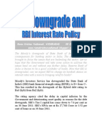 SBI Downgrade & RBI Interest Rate Policy-VRK100-08Oct2011