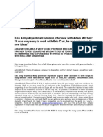 ADAM MITCHELL Kiss Army Argentina Interview English