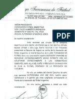Liga Tucumana de Futbol Apoyo Gestion Grondona
