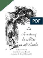 La Aventuroj de Alico en Mirlando - Aventuras de Alice No Pais Das Maravilhas