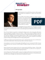 Romney Biography and Top Ten Issues