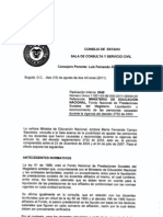 Concepto del Consejo de Estado, Sala de Consulta y Servicio Civil, la cual señala que a los maestros nombrados antes de la expedición de la Ley 812 de 2003, les deben ajustar las pensiones con sus factores salariales.