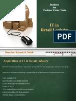 Retail Logistics and IT