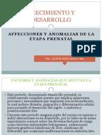 Afecciones Etapa Prenatal