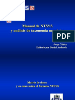 Cluster Analisis NTSYS Jorge Jue 28