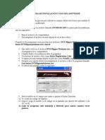 GuÍa InstalaciÓn y Uso Del Software