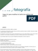 Arte y fotografía diseño grafico