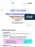 [3] SL1000 Training (Basic Programming) (Issue 1 0)