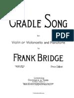 -Bridge Frank Cradle Song- For Cello and Piano