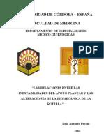 Relaciones Entre des Del Apoyo Plantar y Biomecanica de Rodilla