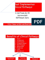Dody Firmanda 2011 - Benefits of Clinical Pathways in Healthcare, Education and Research