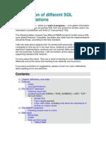 Comparison of Different SQL Implementations 1