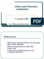 Production and Process Validation