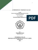 Prinsip-prinsip Dan Teknik Evaluasi
