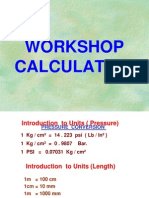 Workshop Calculation