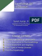 Introduction to Psycho Pathology