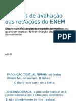 Critérios de avaliação das redações do ENEM