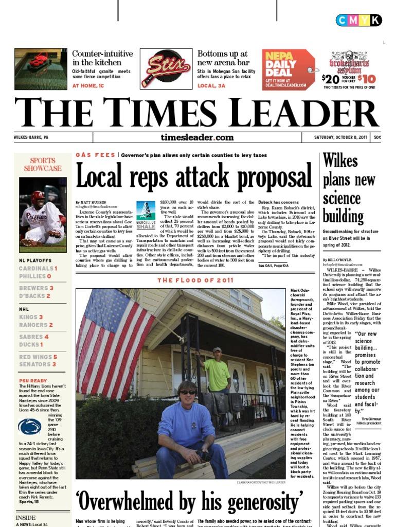 Times Leader 10-08-2011 | Violent Crime | 9 1 1