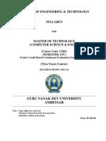 Eleceng m.tech. Cse Semester I-IV Two Years Cbcegs