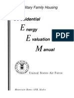 Residential Energy Evaluation Manual