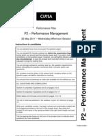 P2 May 2011 Exam Paper