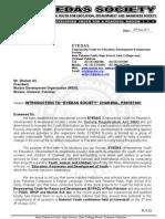 EYEDAS Society-Sarban Letter