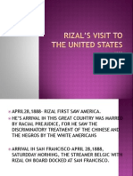 RIZAL'S VISIT TO THE UNITED STATES