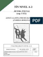 Prueba inicial 2 bachillerato. lingua latina