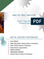 Ch11-Metal Döküm Yöntemleri
