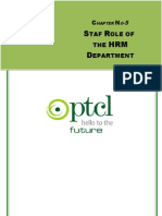 Chapter-5 Staff Roll of the HRM Deptt