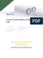 How to Create Create Custom Menu Within BPC NW