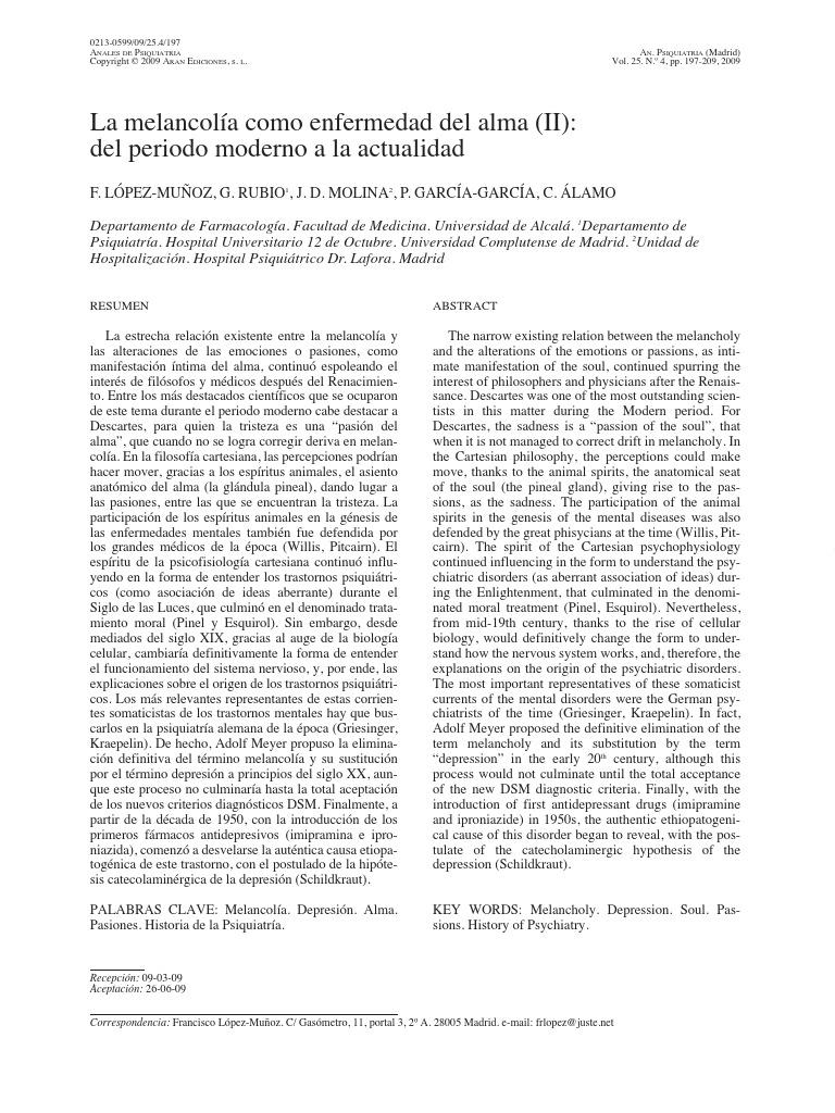 LópezMuñoz et al-La melancolía como enfermedad del alma (II)-Anales ...