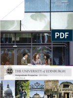 University of Edinburgh Post Graduate Prospectus 2011 Entry