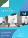 History of Surgery