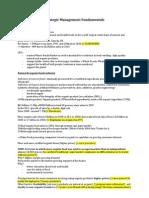 Strategic Management Fundamentals Case 1