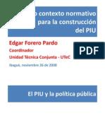Contexto Normativo Del PIU