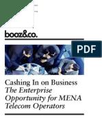 BoozCo Enterprise Opportunity MENA Telecom Operators