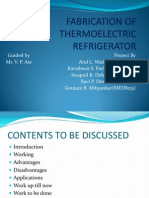 Ppt on Fabrication of Thermoelectric Refrigerator