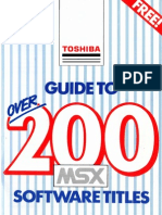 Toshiba Guide to Over 200 MSX Games
