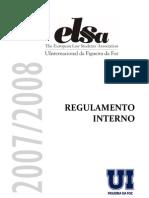 Regulamento Interno Da ELSA UInternacional Da Figueira Da Foz