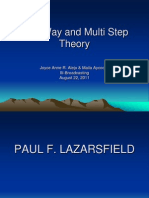 Two Way and Multi Step Theory